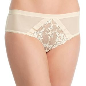 Free People Nude Combo Lacy Hipster Panties